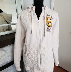 American Rag cream phys ed sweatshirt. Mens Large